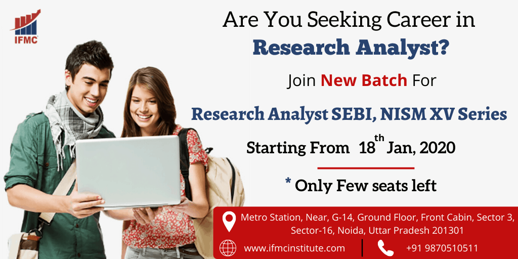 Research Analyst SEBI, NISM XV Series 18 jan noida