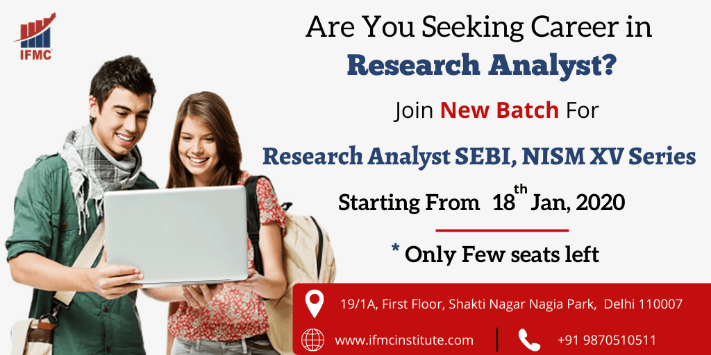 Research Analyst SEBI, NISM XV Series 18 jan north campus