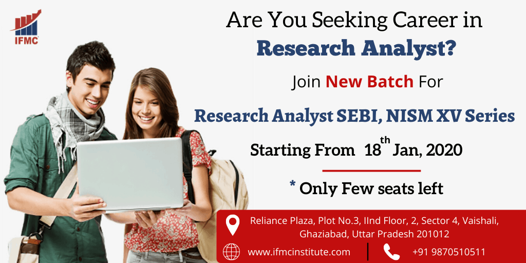 Research Analyst SEBI, NISM XV Series 18 jan vaishali