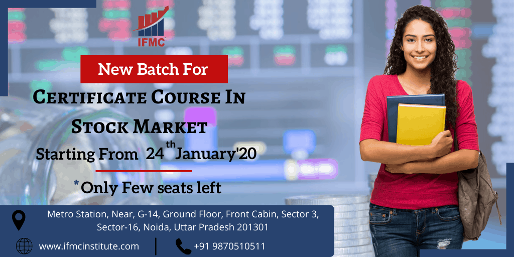 certification course in stock market 24 jan noida