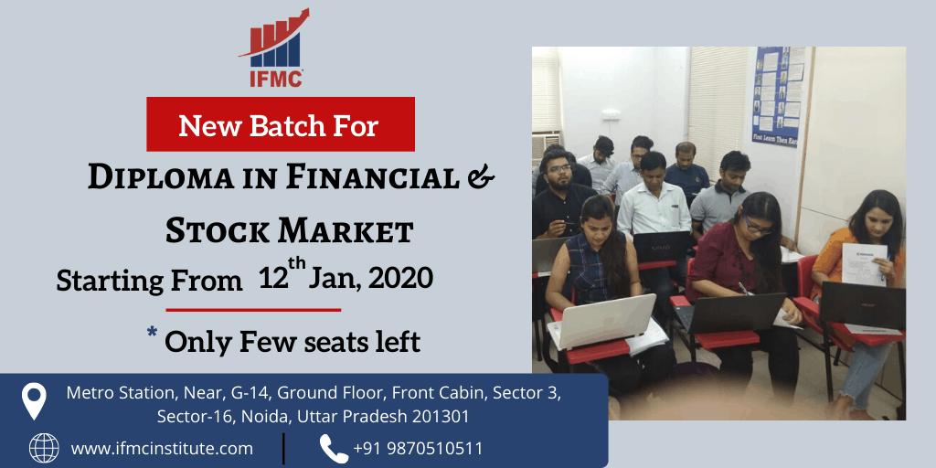 diploma in financial & stock market 12 jan noida