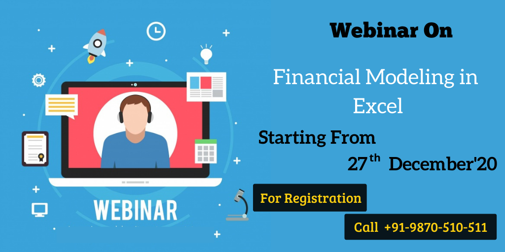 Financial Modeling in Excel webinar 27 december